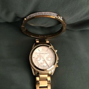 Michael Kors watch with matching bangle
